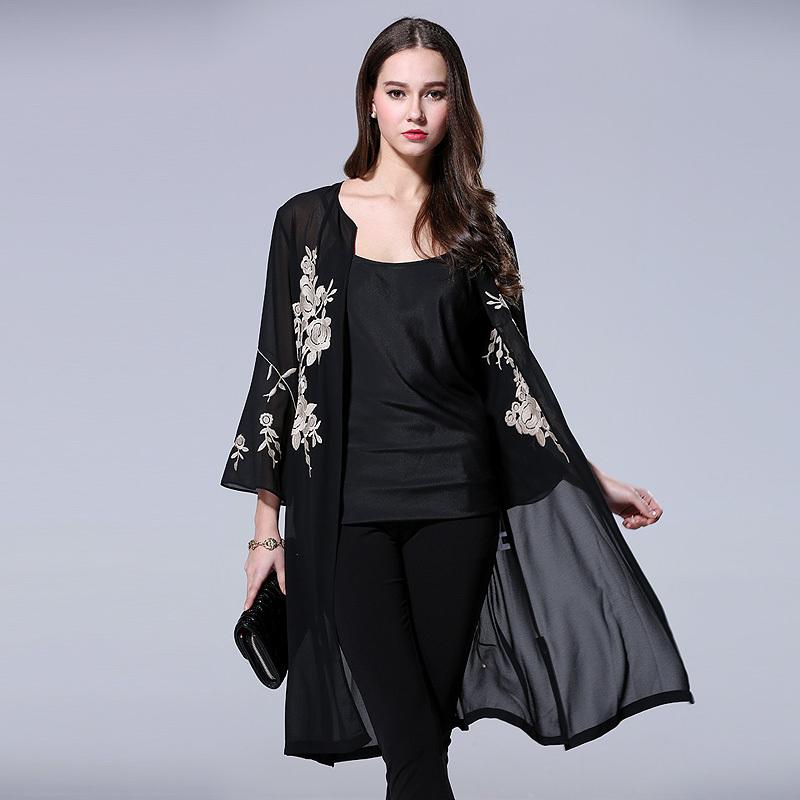 Long black coat for women