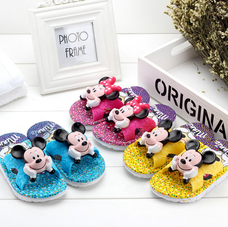 children shoes kids slippers mickey slippers boy girl cartoon slippers 7 colors for choose