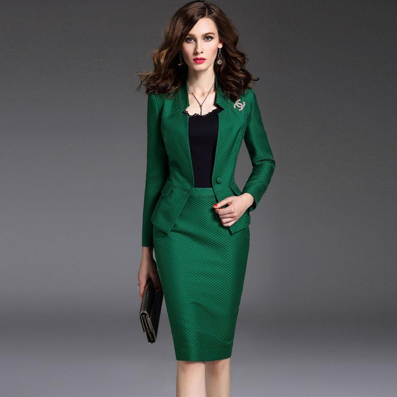 Compra mujeres oficina falda traje online al por mayor de
