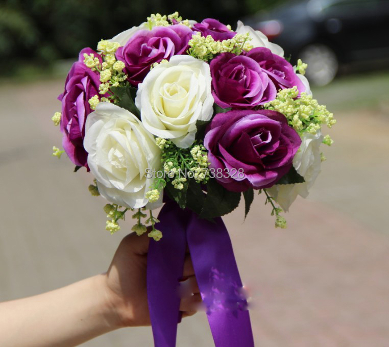 Wedding Flowers Cheap Online: 2014 Cheap Colorful Wedding Flowers Bridal Bouquets 2