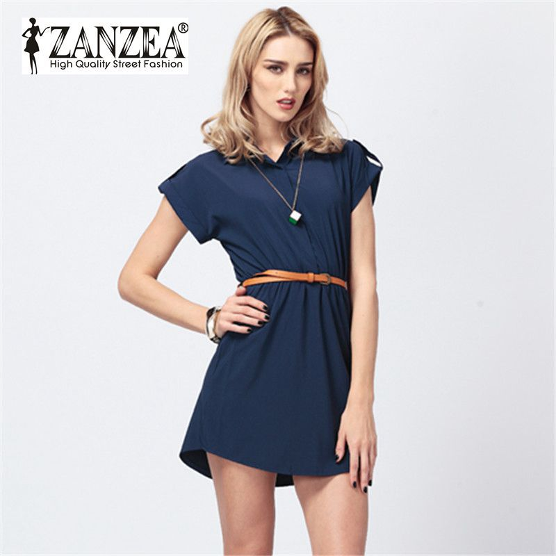 4454f404d11 ... cotton denim dress teenage Casual Dresses With Belts For Teens ...