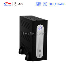 Realan G3 SGCC Mini ITX Computer Towers With Power Supply, 2.5 HDD 3.5 HDD, 6 COM, Black Tower PC Case