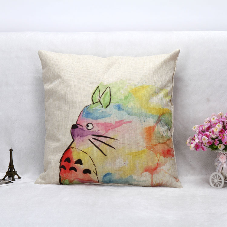 Scandinavian Coussin Almofadas 18 X 18 Colorful Totoro Decorative Throw Pillows Home Decor Cushion Cuscini Cojines Decorativos