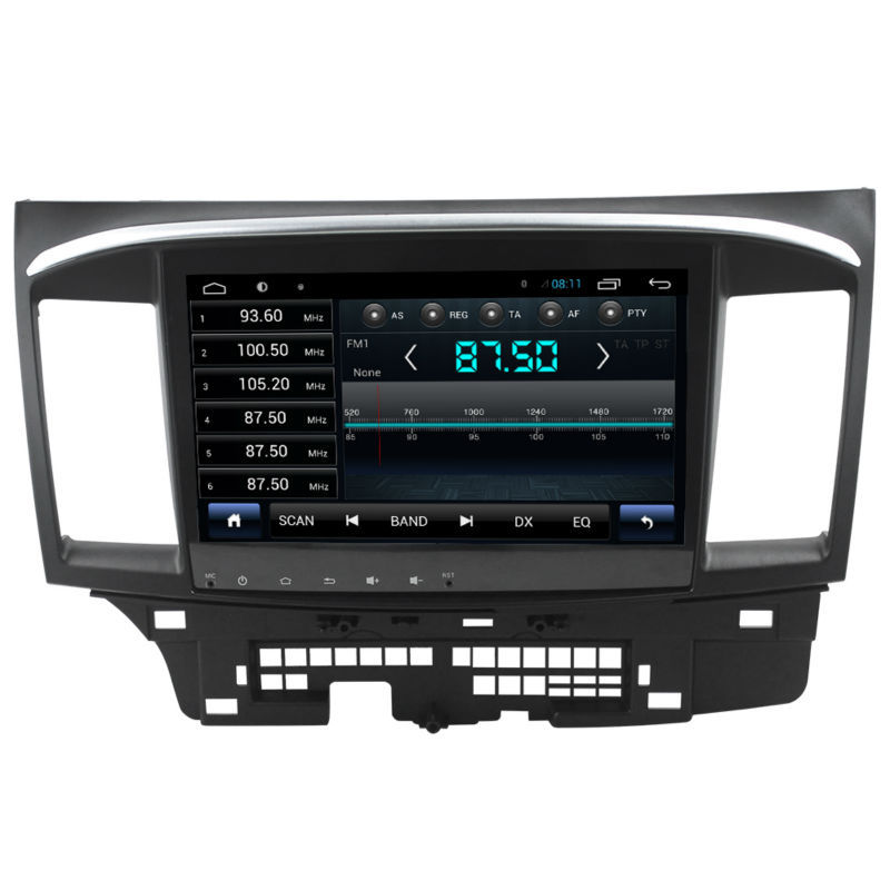 for 1024 600 android mitsubishi lancer car radio gps with built in wifi gps navi fm am radio. Black Bedroom Furniture Sets. Home Design Ideas
