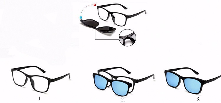 6ea6ad9216768 BENZEN Homens Clipe Magnético Polarizada Óculos TR Masculino Condução Clipe  Em óculos de Sol Ímã Óculos de Miopia Quadro Com Caso 9139