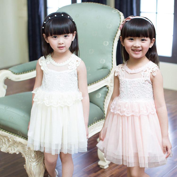 Elegant pink floral chiffon macrame lace toddler birthday princess font b dress b font little girl