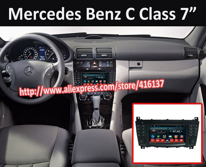 7 inch HD Capacitive touch screen for Mercedes-Benz C Class C-Class W203  CLC G Class W467 with android quad core system