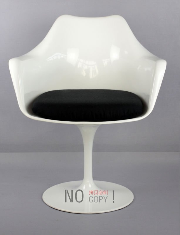saarinen tulip arm chair white/free shipping byEMS-in