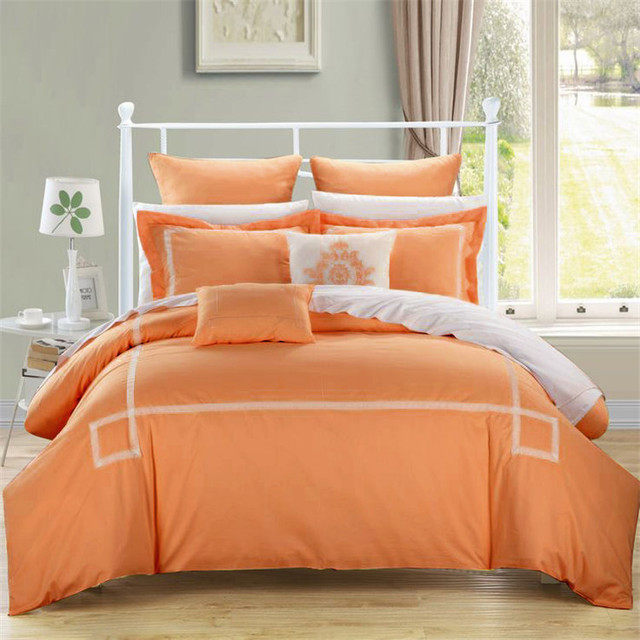 4pc/6pc/10pc comforter bedding sets blue/grey/green/orange ...