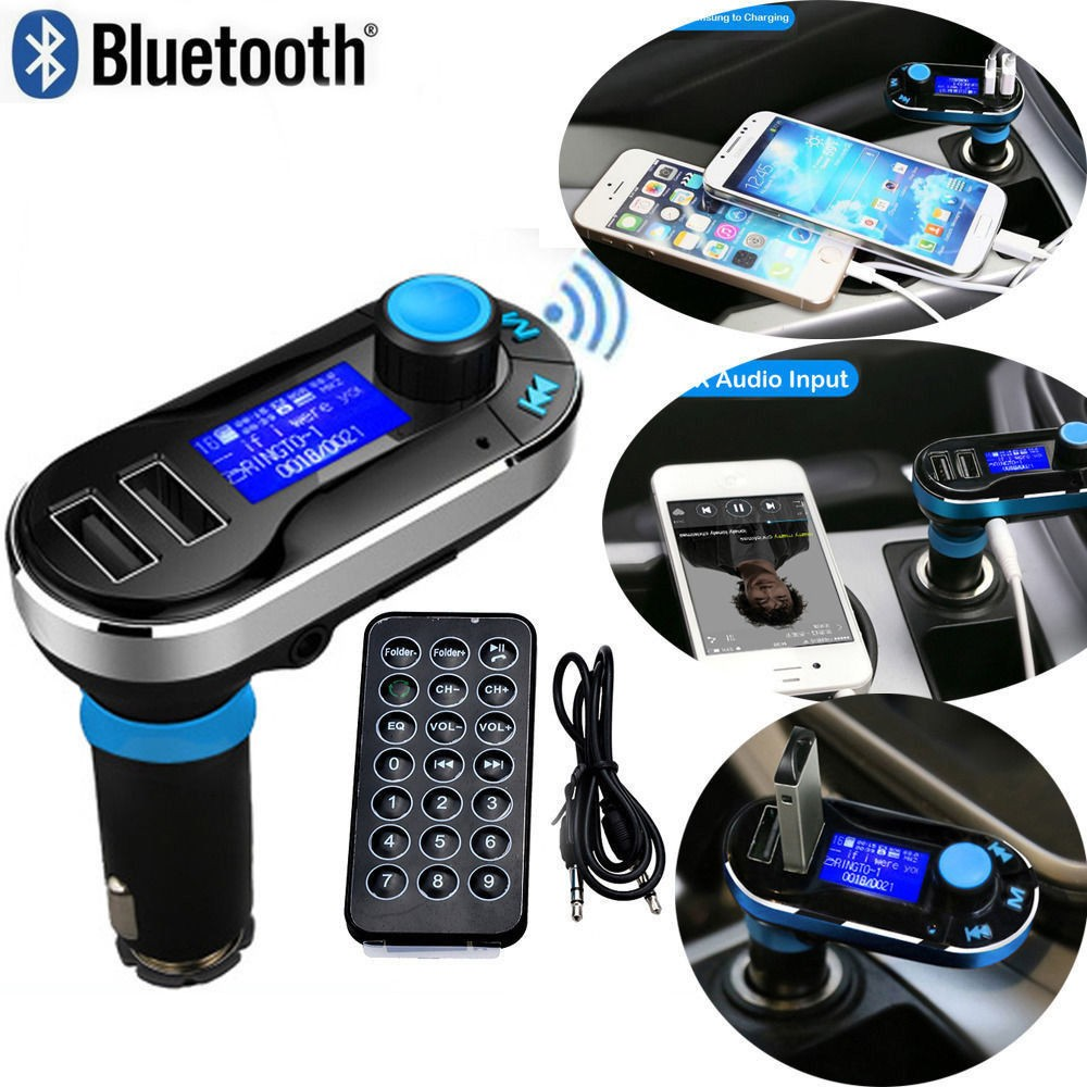 nouveau bluetooth mains libres voiture kit sans fil bluetooth transmetteur fm lecteur mp3 de. Black Bedroom Furniture Sets. Home Design Ideas