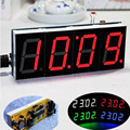 2015 Hot Sale DIY 4 Digit Electronic Large Screen LED Clock Kit Red Blue Green 3