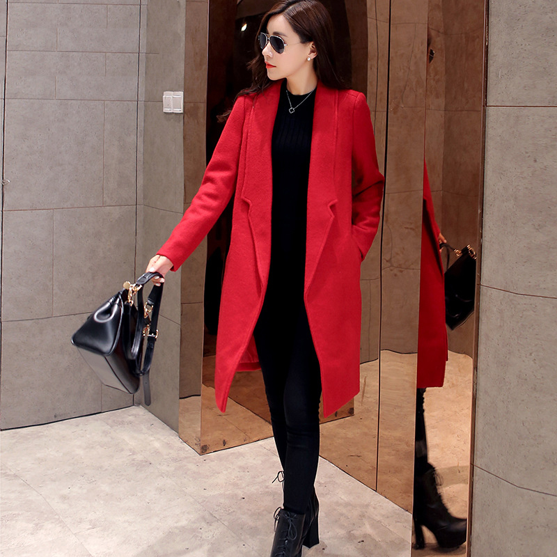 Red winter coats for women