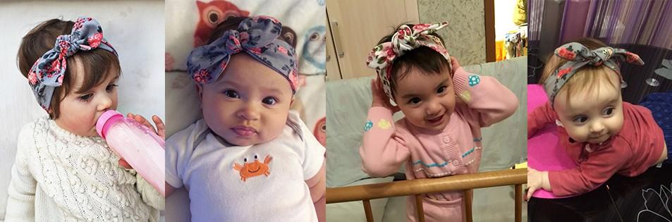 9c6a5f6b215e 1 pieces 2015 Cute Newborn Baby Cool Girls Printing Knot Elasticity ...