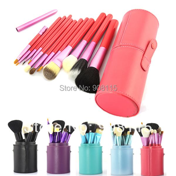 12 Pcs Makeup Brush Cosmetic Set Eyeshadow Wood Brush Blusher