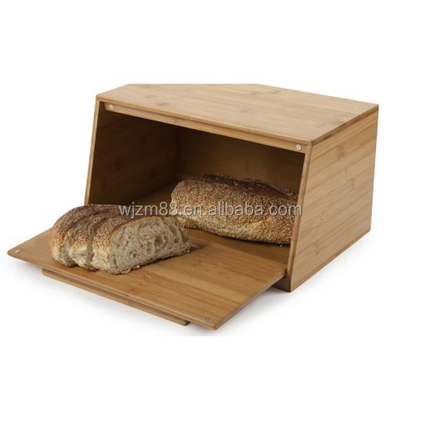 eco friendly et de haute qualit bambou bo te de rangement de pain bambou bois bo te pain. Black Bedroom Furniture Sets. Home Design Ideas