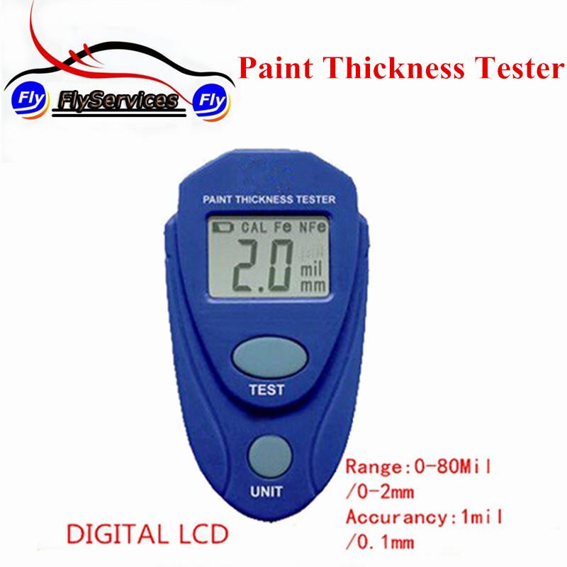 Краски автомобиля тестер EM2271 цифровой жк толщиномером метр толщиномер инструмент 0-80mil 0.1 мм