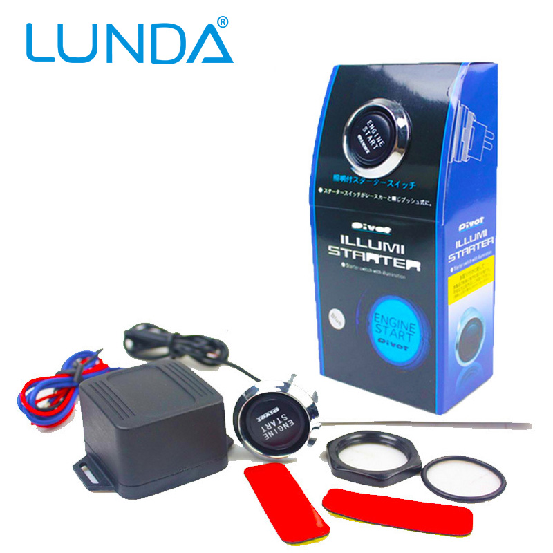 Push To Start Button Ignition: LED Universal Car Engine Start Push Button Switch Ignition