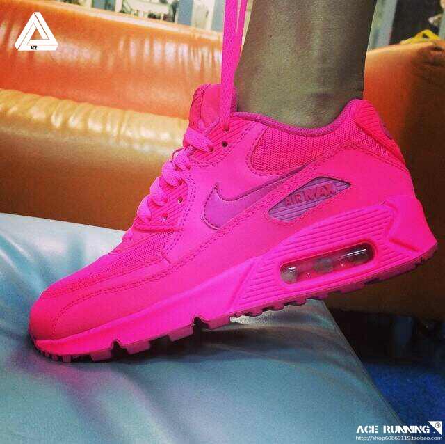 nike air max 90 rosa fluo