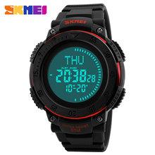 SKMEI Компасы часы Военная униформа открытый Спортивные часы Для мужчин Водонепроницаемый электронный светодиодный цифровой часы Luxury челове...(Китай)