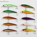 1 pc lot Plastic Hard Fishing Lures Saltwater Fishing Laser Minnow Floating Artificial Fishing Wobblers Lure