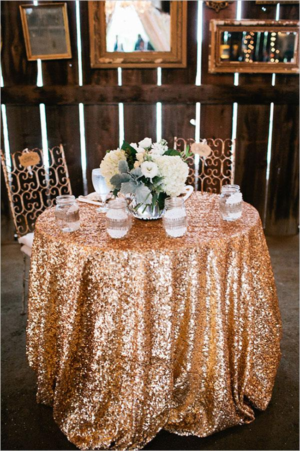 48 132 Round Choose Your Size Gold Sequin Tablecloth