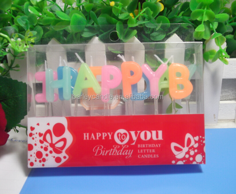 Wholesale Happy Birthday Letter Cake CandlesParty Candle