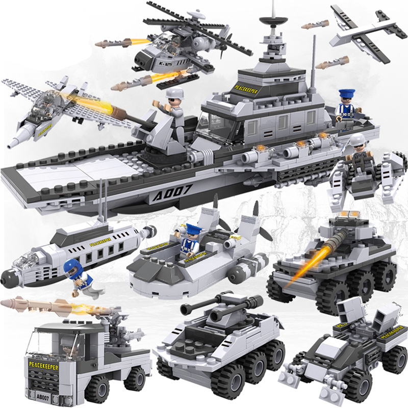 25 in 1 blocks Military blocks helicopter tank model building blocks chariot car war The aircraft