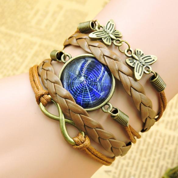 Star ангел время браслет многослойные комбинация по ручная вязка аксессуары браслет браслет