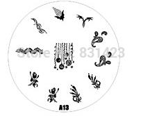 2015 new A Series A13 Nail Art Polish DIY Stamping Plates Image Templates Nail Stamp Stencil