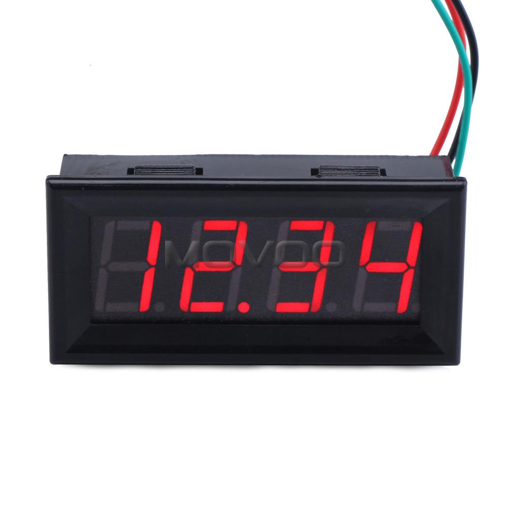Voltmeter digital, Dc 0 33 V merah dipimpin tampilan