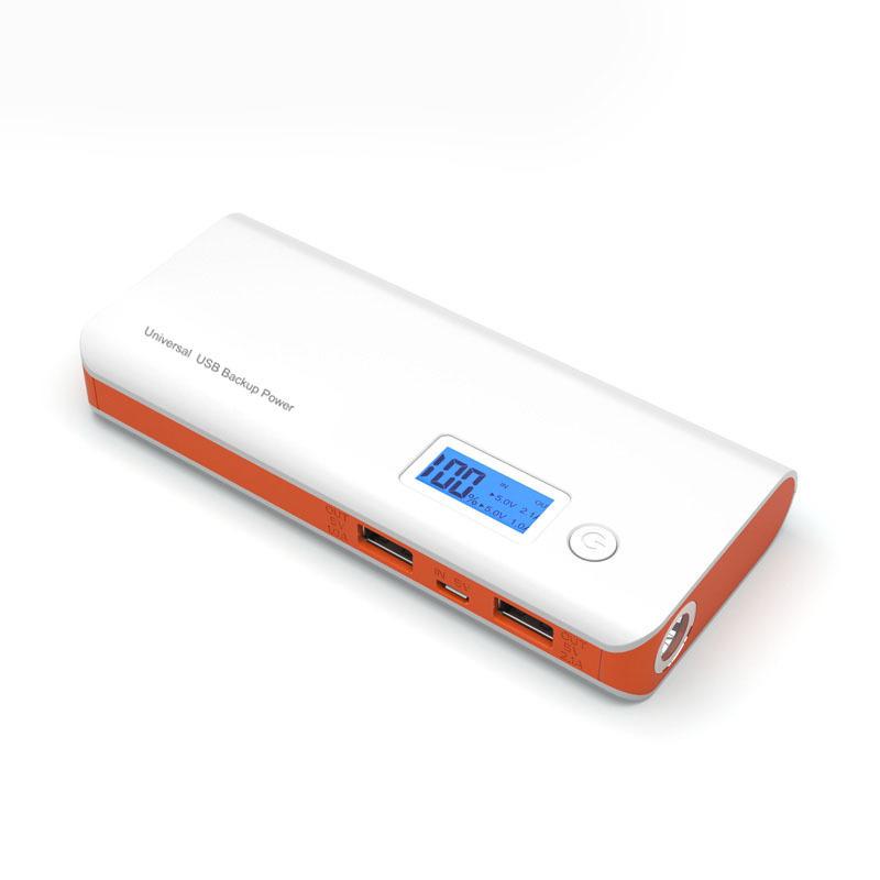Doshin мобильный власти банка 12000mah Dual Usb Lcd дисплей внешний