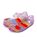 Fashion Brand Crystal Hollow Kids Jelly Shoes Rainbow Girls Sandals Summer Kids Shoes Casual Sandalia Infantil
