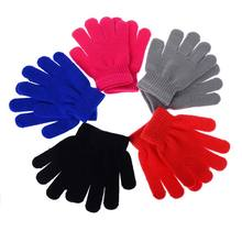 1 Pair 2015 New Fashion Children Kids Magic Glove Mitten Girl Boy Kid Stretchy Knitted Winter Warm Gloves Pick Color
