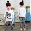 2016 Spring Autumn Children Cotton Tracksuit Girl Clothing Set Baby Girls Sports Suit Girls Clothes Suits