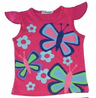 Girls Summer Casual Clothes Set Children Short Sleeve Cartoon T shirt Short Pants Sport Suits 2016