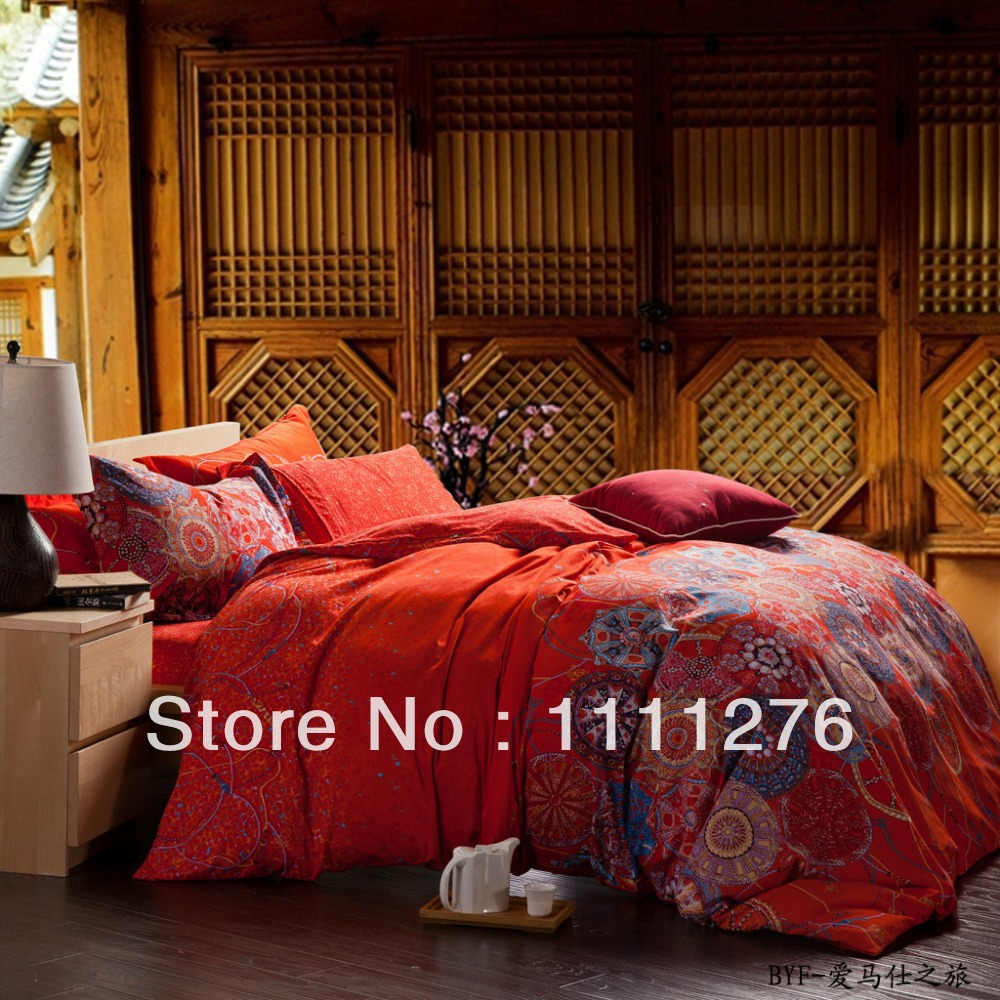 2014 hot sale king queen size bedding sets bedclothes duvet covers bed sheet the bed linen home. Black Bedroom Furniture Sets. Home Design Ideas