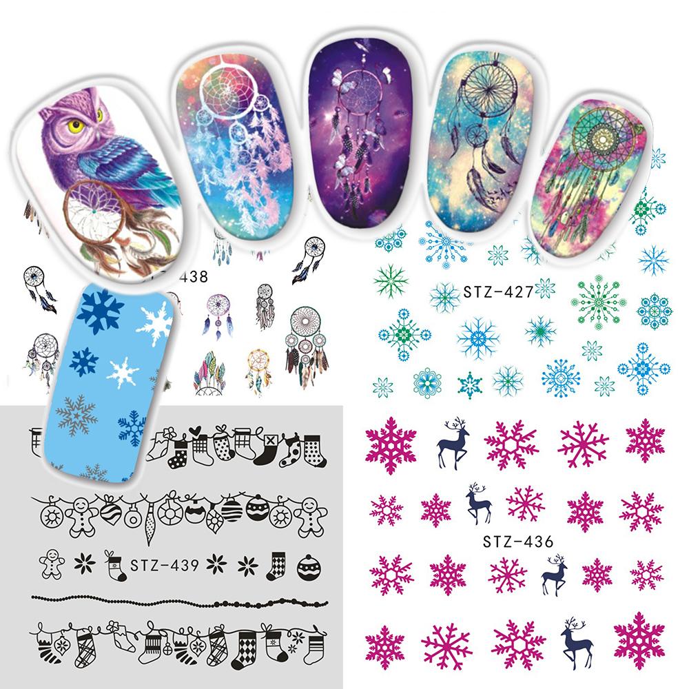 Nail Art Bunga: Nail Art Stiker-Beli Murah Nail Art Stiker Lots From China