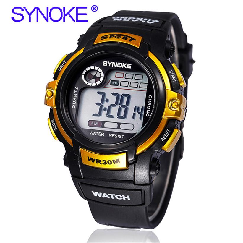 Новый Дизайн Мужчины Мальчик SYNOKE Водонепроницаемый Спорт Наручные Часы Цифровой СВЕТОДИОДНЫЙ Резиновые Часы 160525
