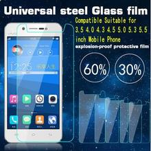 Universal Tempered Glass Screen Protector Film for 3.5 3.7 4.0 4.3 4.5 4.7 5.0 5.5 inch mobile phone Premium Real 9H 2.5D 0.26mm