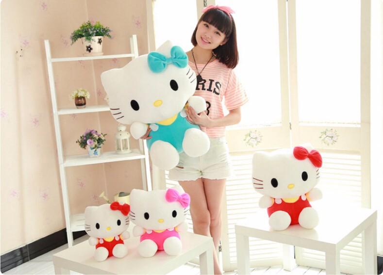 2c5a1bdf1715 2019 20cm Mini Hello Kitty Plush Toys Dolls Kawaii Stuffed Cartoon ...