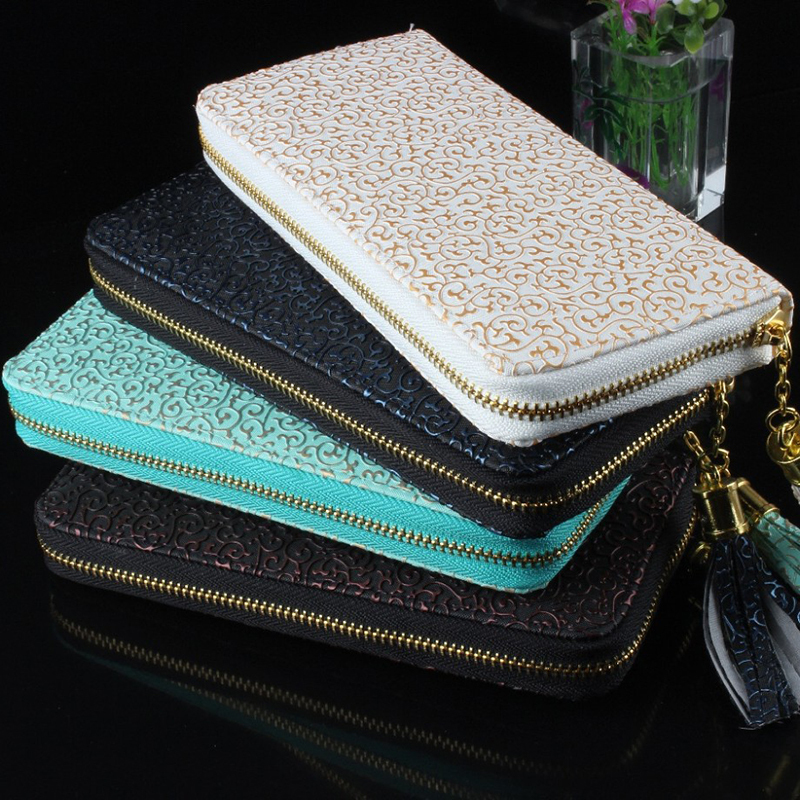 2015new Fashion Purse Hot Sale Vintage Pattern Women Wallets carteira feminina good Quality Women Clutch 8
