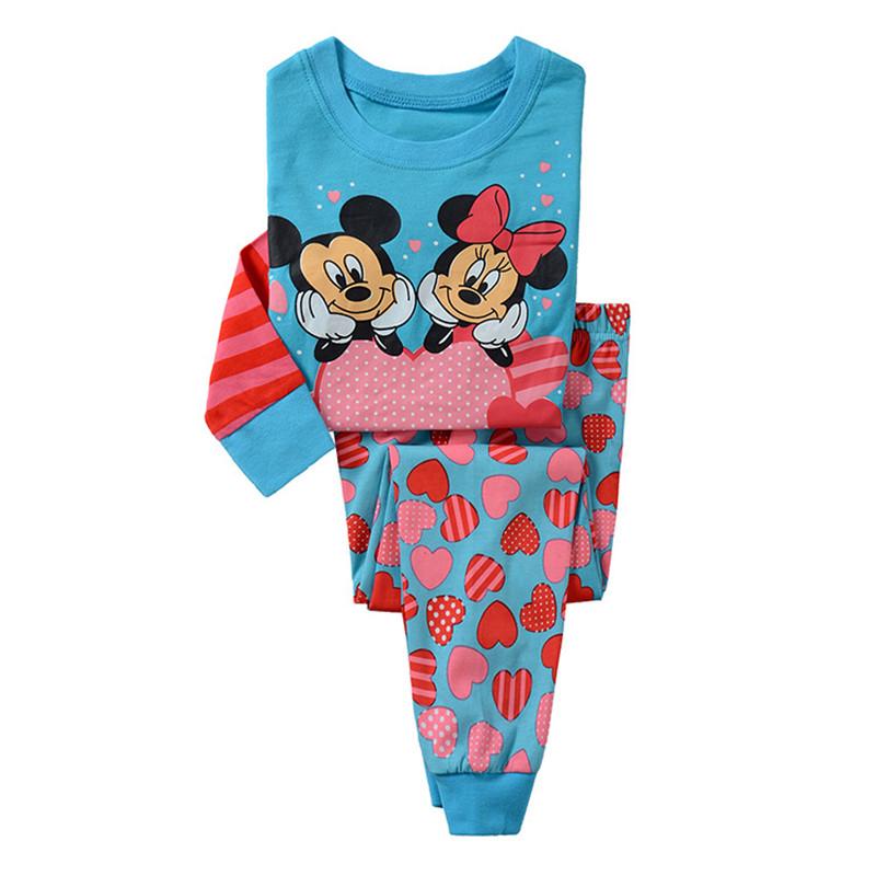 Girls pajamas set cartoon Pajama suit clothing set Kids pijamas Children Spring autumn winter 2 piece