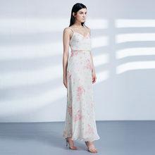 Длинные платья Ever Pretty для выпускного, 2020 Ever Pretty EP07381, сексуальное шифоновое платье А-силуэта с цветочным принтом без рукавов, дешевые платья ...(Китай)