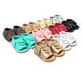 Cool Summer Fashion Street Moccasins Sandals 2016 Baby Shoes Leather Tassels Baby Toddler Shoes Rubber Soled