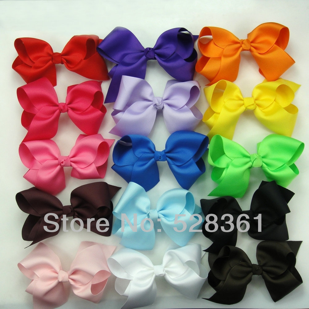 15pc Wholesale Cheap Low Price Hair Bows Big 5 5 Boutique Girl Baby Alligator Clip Large