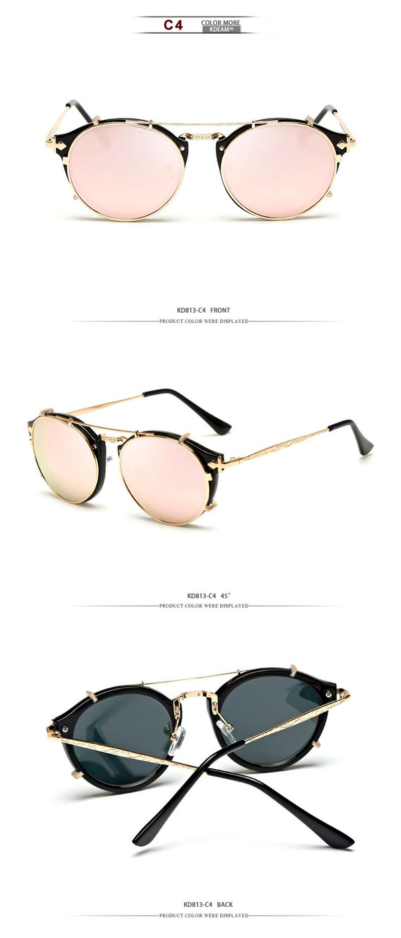 a6ac80acb8 Compre Kdeam Feliz Clip En Gafas De Sol Hombres Extraíbles Gafas ...
