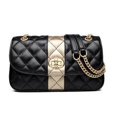 FOXER женская сумка-мессенджер на цепочке с бриллиантовой решеткой и клапаном, женские кожаные сумки на плечо высокого качества, подарок на де...(Китай)