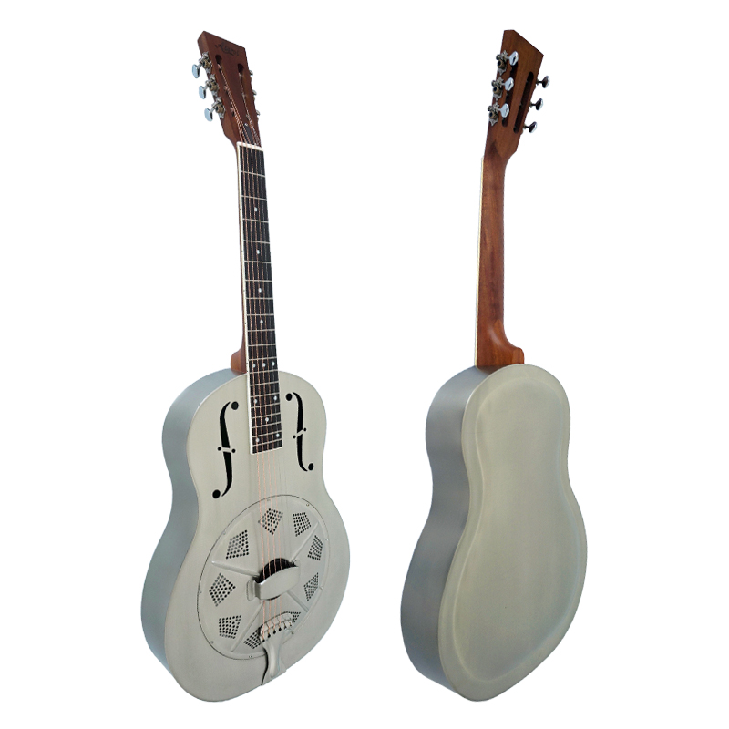 single cone duolian metal body blues slide resonator guitar for sale with free case in guitar. Black Bedroom Furniture Sets. Home Design Ideas