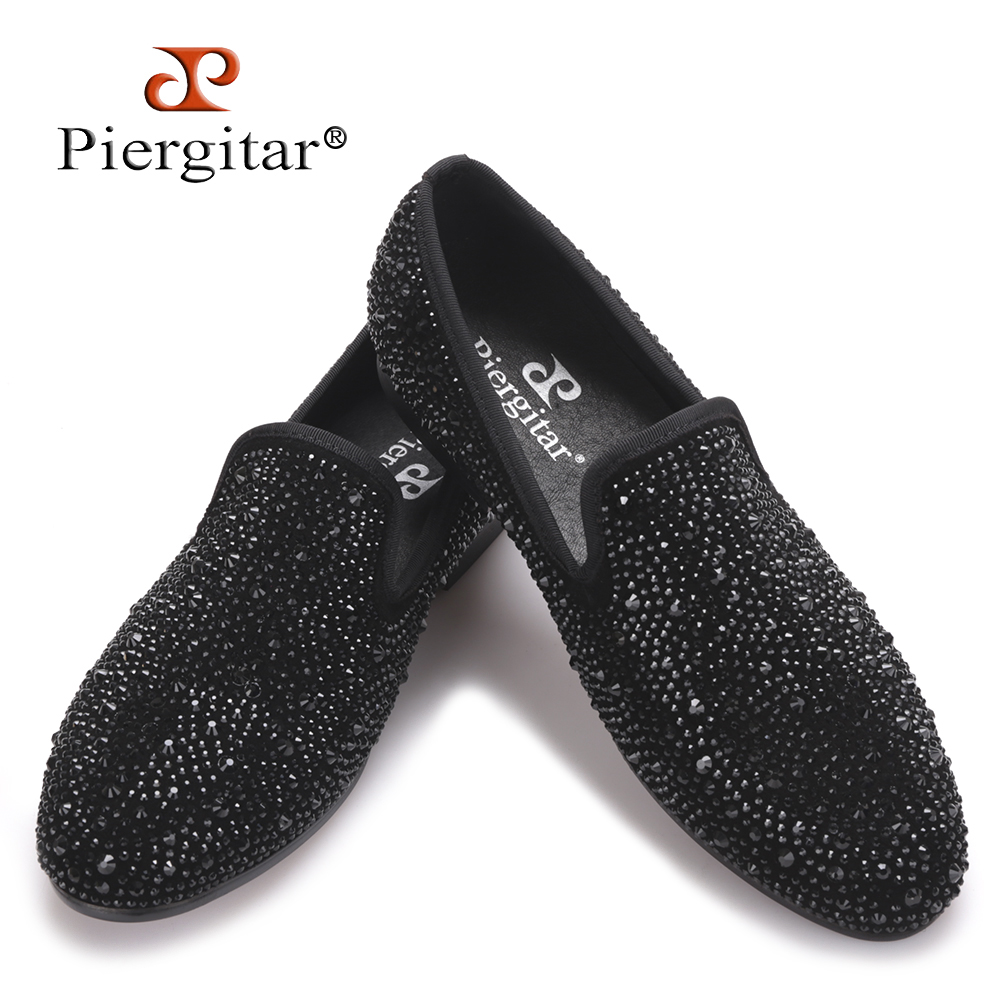 2017 Wholesale Mens Black Shoes Leather Italy Men Flat Style Casual Special Pattern Loafter Prom Wedding Dress Slip-on Shoes Men's Shoes
