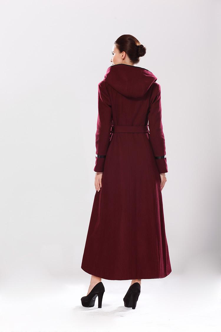 Womens full length down coat
